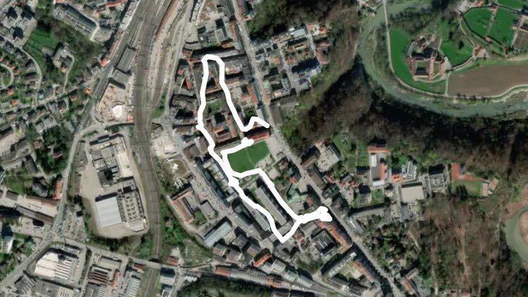 Parc de Pérolles Fribourg gehen Pfad - Kanton Freiburg,Schweiz | Pacer